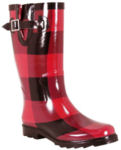 Chooka Boots in Buffalo Plaid Red/Black