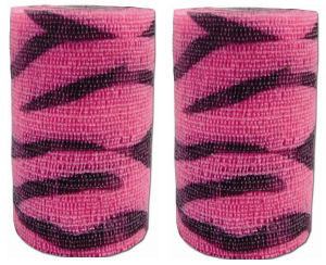 Powerflex Pink Zebra Bandages