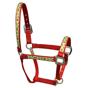 Red Haute Hot Peppers Horse Halter