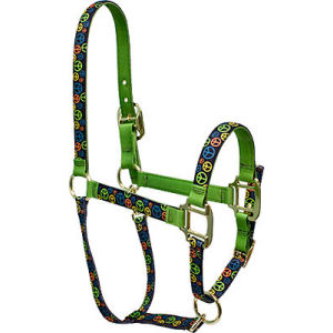 peace signs horse halter