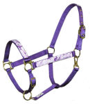 Purple Camo Peace Horse Halter