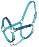 Turquoise Leopard Horse Halter