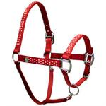 Red Polka Dot Horse Halters