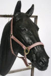 Red Haute Pink and Brown Houndstooth Horse Halter