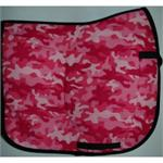 pink camo saddle pad