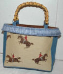 Blue Redcoat Equestrian Purse